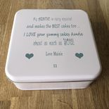 Personalised AUNTIE AUNTY AUNT Cake Biscuit Tin gift ANY NAME BAKING - 232937430205